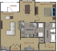 upscale community with 1 2 and 3 bedroom apartment homes a2 floor plan 2