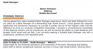 cv personal statement customer service financial management