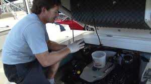 how to change mercruiser marine engine oil by http