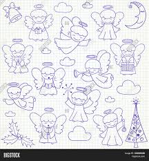 set vector christmas angels vector u0026 photo bigstock