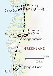 Horizon Air Route Map by Expedition To Greenland Itinerary U0026 Map Wilderness Travel