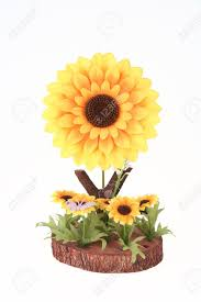 Artificial Sunflowers Big Artificial Sunflower And Several Small Sunflowers With