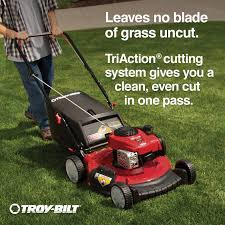 shop troy bilt tb110 140cc 21 in push residential gas lawn mower