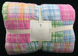 Pottery Barn Rugs Ebay by Pottery Barn Kids Madras Twin Quilt Pink Blue Girls Surf Summer