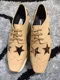 stella mccartney shoes apricot color genuine leather upper with