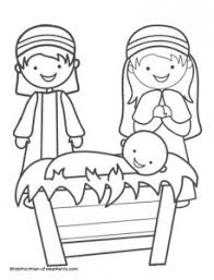 Free Christmas Printables Santa Letter Video Message More Free Printable Nativity Coloring Pages