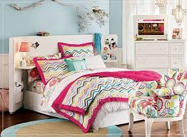 bedroom girl bedroom with baby blue colored wall and pink nuance girl bedroom with baby blue colored wall and pink nuance bed with zig zag patterned bed cover and also flowery club chair for girl bedroom ideas