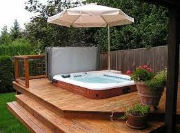 Backyard Deck Pictures by Best 25 Backyard Tubs Ideas Only On Pinterest Diy Hottub