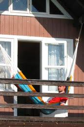 h ngematte auf balkon haengematten aufhaengung