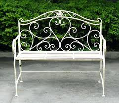 Shabby Chic Clearance by Chic Folding Metal Garden Bistro Bench In Clay The Farthing 3metal