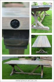 Outdoor Furniture Finish by Diy Weathered Wood Stain Finishes Setting For Four