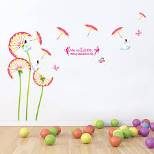 wall michaels wall decals cheap temporary wallpaper dandelion brick decal dandelion wall decal wall decor stickers for living room