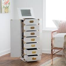 Glossy White Dresser Belham Living Modern Regency Jewelry Armoire Hayneedle