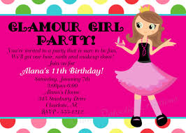 Birthday Card Invitation Ideas Birthday Invites Chic Girls Birthday Party Invitations Ideas