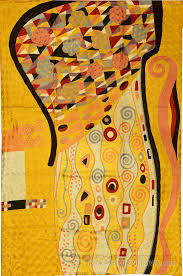 Modern Abstract Rugs Klimt Nouveau Gold Silk Modern Abstract Rug Tapestry