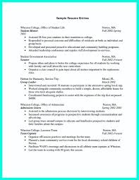 Resume Samples For College Students by Resume Template For Recent College Graduate Resume For Your Job