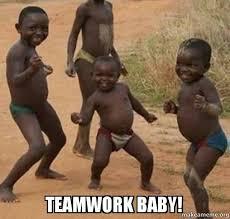 Teamwork Memes - teamwork baby dancing black kids make a meme