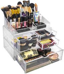 acrylic cosmetics makeup and jewelry storage case x large display