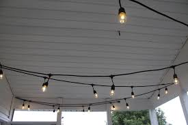 Covered Porch Ceiling Material by String Lights For The Screened Porch U2022 Charleston Crafted