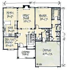 tudor style house plan 4 beds 2 5 baths 2265 sq ft plan 20 2040