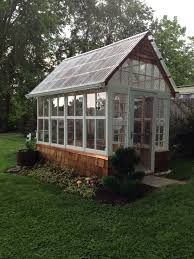 Clear Corrugated Plastic Roof Panel Greenhouse by This Is A 7 U0027x12 U0027 Greenhouse I Made Out Of Old Windows From My Home