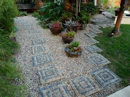 awesome landscape stepping stones