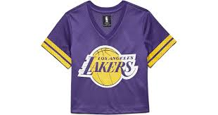 lyst forever 21 los angeles lakers jersey top in purple