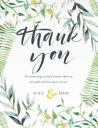 thank you cards floral thank you dp baby shower thank you cards
