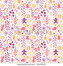 merry seamless pattern happy new stock vector 334784153