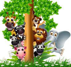 safari cartoon various funny cartoon safari animal wall mural pixers we live