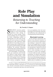 guide to business gaming and experiential learning role play and simulation returning to teaching for understanding