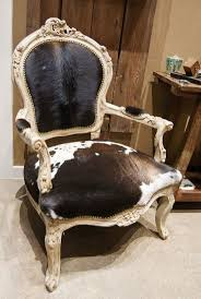 furniture interesting cowhide armchairs with nailhead trim and