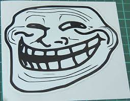 Cool Face Meme - troll face stickers decals 10x10cm meme coolface problem feels