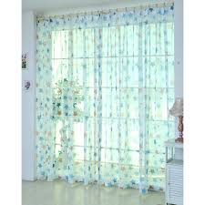 Sheer Blue Curtains Cute And Dreamy Blue Star Kids Room Sheer Curtains