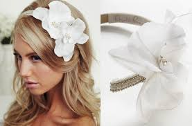white flower headband bridal headband with flower bridal headband with orchid flowers