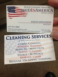 Business Cards Front And Back Business Card Front And Back For This Great Cleaning Agency Yelp