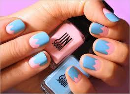 fingernã gel design nail pastellfarben rosa himmelblau ostern fingernã gel design