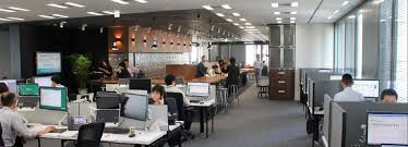 cbre it service desk new cbre offices showcase latest layout trends commercial observer