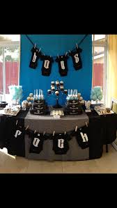 Red Baby Shower Themes For Boys - best 25 rock baby showers ideas on pinterest rock a bye baby