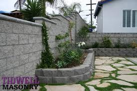 san diego retaining wall contractor tidwell masonry block wall