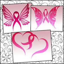 cancer ribbon svg file ribbon butterfly ribbon hearts cancer