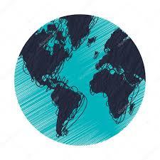earth globe sketch style icon u2014 stock vector jemastock 116288204