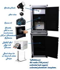 photo booth equipment the wide variety of backdrops cameras lighting computers and