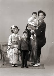japanese family in kimono vintage portrait of a flickr