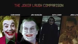 best joker halloween costumes the joker laugh comparison u2013 cesar r jack nicholson heath ledger