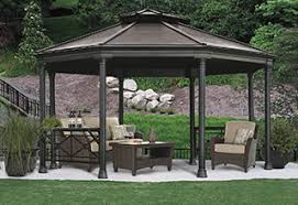 Covered Gazebos For Patios Outdoor Structures Costco