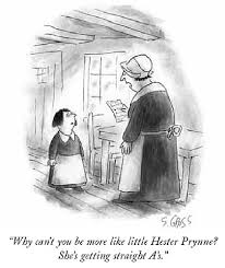 challenging conventions cartoons about scarlet letter