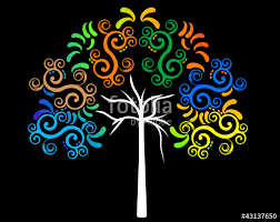 tribal tree colorful nature vector stock image and royalty free