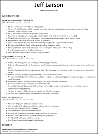 Resume For Office Job by Resume For Office Assistant Resume For Your Job Application