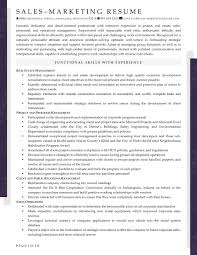 Real Estate Developer Resume Sample by Resume Samples For Sales And Marketing Jobs